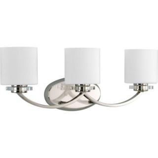 Thomasville Lighting Nisse Collection Polished Nickel 3 Light Vanity Fixture P2014 104