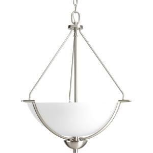 Progress Lighting Bravo Collection 3 Light Brushed Nickel Foyer Pendant P3912 09