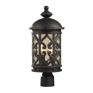 Titan Lighting Tuscany Coast 2 Light Outdoor Weathered Charcoal Post Light TN 5212