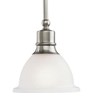 Progress Lighting Madison Collection Brushed Nickel 1 Light Mini Pendant P5078 09