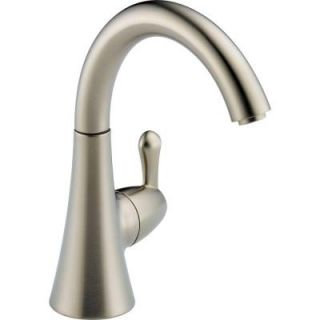 Delta Transitional Single Handle Kitchen Faucet in Stainless 1977 SS DST