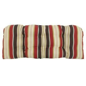 Hampton Bay Majestic Stripe Tufted Outdoor Bench Cushion 7426 01000200