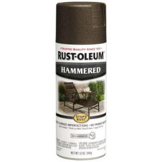 Rust Oleum Stops Rust 12 oz. Protective Enamel Hammered Dark Bronze Spray Paint 7218830