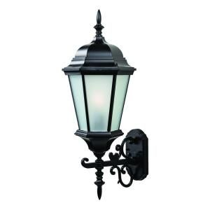 Acclaim Lighting Richmond Collection 1 Light Outdoor Matte Black Wall Mount Light Fixture 5203BK/FR