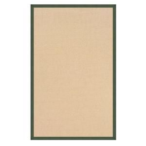 Linon Home Decor Athena Natural and Green 9 ft. 10 in. x 13 ft. Area Rug RUG AT010513