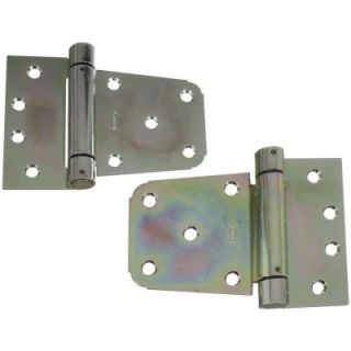 National Hardware 3 1/2 in. Zinc Plated Heavy Duty Auto Close Gate Hinge Set V279 3 1/2 HY GT HGEZN