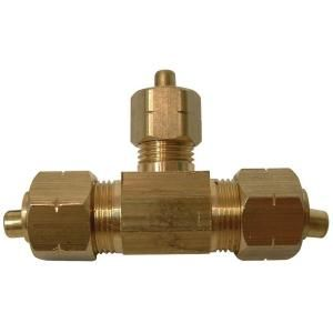 Watts 3/8 in. x 3/8 in. x 1/4 in. Lead Free Brass Compression Tee LF A113