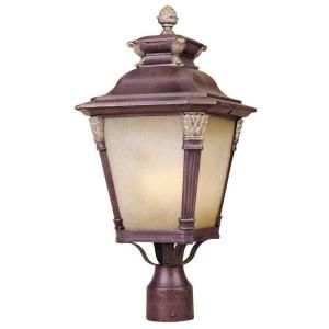 Hampton Bay 3 Light Outdoor Augustain Bronze Post Lantern DISCONTINUED HD161200