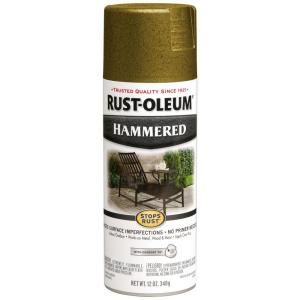 Rust Oleum Stops Rust 12 oz. Protective Enamel Hammered Gold Spray Paint (6 Pack) 7210830