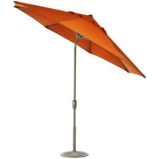 Home Decorators Collection 11 ft. Auto Tilt Patio Umbrella in Tuscan Sunbrella with Champagne Frame 1549720580