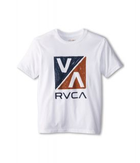 RVCA Kids VA 45 Boys Short Sleeve Pullover (White)