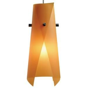 Juno 1 Light Hanging Mini Pendant with Orange Peel Shade PKH316ORANGEPEE