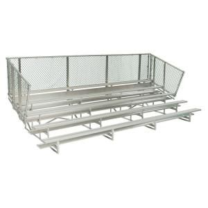 Ultra Play 15 ft. 5 Row Aluminum Bleacher Frame with Chain Link NR 0515AMC