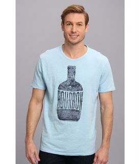 Lucky Brand Bourbon Graphic Tee Mens T Shirt (Blue)