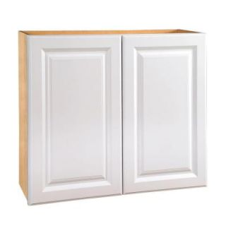 Home Decorators Collection Assembled 33x30x12 in. Wall Double Door Cabinet in Hallmark Arctic White W3330 HAW
