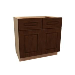 Home Decorators Collection Assembled 36x34.5x24 in. Base Cabinet with Double Doors in Roxbury Manganite Glaze B36 RMG