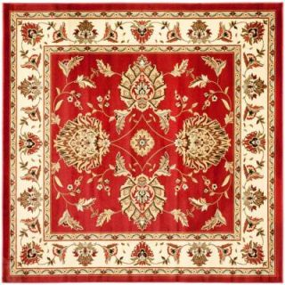 Safavieh Lyndhurst Red/Ivory 6 ft. 7 in. x 6 ft. 7 in. Square Area Rug LNH555 4012 7SQ