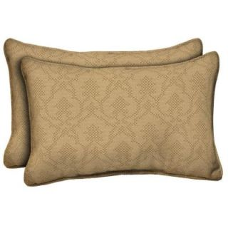 Hampton Bay Bellagio Outdoor Lumbar Pillow (2 Pack) ND02121B 9D2