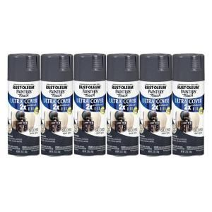 Painters Touch 12 oz. Gloss Dark Gray Spray Paint (6 Pack) DISCONTINUED 182684