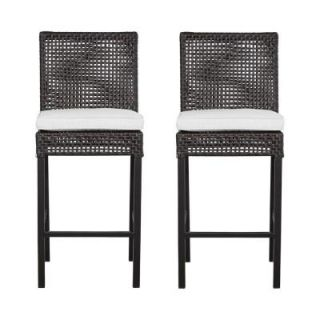 Hampton Bay Fenton Patio High Dining Chair with Bare Cushion (2 Pack) DY9131 BS B