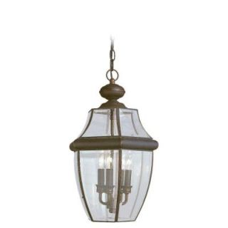 Sea Gull Lighting Lancaster 3 Light Outdoor Antique Bronze Pendant Fixture 6039 71