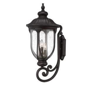 Acclaim Lighting Laurens Collection 3 Light Outdoor Black Coral Wall Mount 2221BC