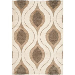 Safavieh Florida Shag Cream/Smoke 9.5 ft. x 13 ft. Area Rug SG461 1179 10