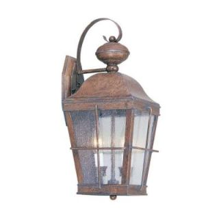 Livex Lighting Providence Wall Mount 2 Light Outdoor Burl Incandescent Lantern CLI MEN2416 10