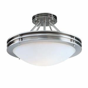 Hampton Bay Semi Flushmount Brushed Nickel Two Light Ceiling Fixture BPA8212 2