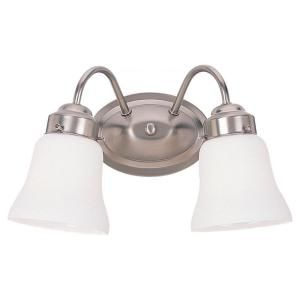 Sea Gull Lighting Westmont 2 Light Brushed Nickel Vanity Fixture 44019 962