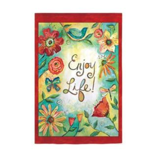Evergreen Enterprises 18 in. x 12 1/2 in. Enjoy Life Garden Flag Z141265