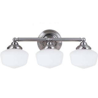Sea Gull Lighting Academy 3 Light Brushed Nickel Vanity Fixture 44438BLE 962