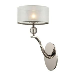 Titan Lighting 1 Light Polished Nickel Wall Sconce TN 7974
