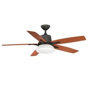 Hampton Bay Waleska II 52 in. Indoor/Outdoor Natural Iron Ceiling Fan with Wall Control AL731 NI