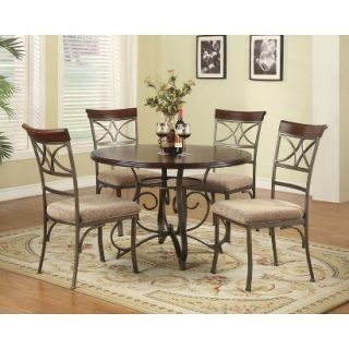 Dining Table Set Powell Hamilton Dining Table   Brown (Set of 5)