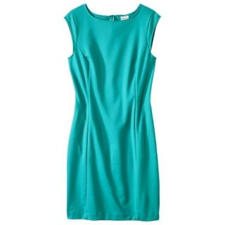 Merona Womens Ponte Sheath Dress   Coastal Green   M