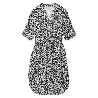 Merona Womens Drawstring Shirt Dress   Animal Print   XXL