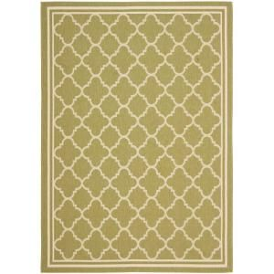 Safavieh Courtyard Green/Beige 6.6 ft. x 9.5 ft. Area Rug CY6918 244 6