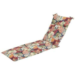 Hampton Bay Hideaway Floral Outdoor Chaise Lounge Cushion 7407 01001100