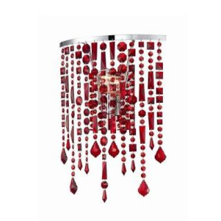 Hampton Bay Niagara Collection 1 Light Red Wall Sconce 12893 034