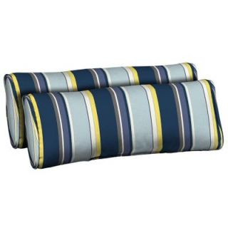 Hampton Bay Stella Stripe Outdoor Bolster Pillow (2 Pack) AD23803B 9D2