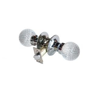 Krystal Touch of NY Golf Ball Crystal Chrome Passive Door Knob with LED Mixing Lighting Touch Activated DL3613CPAS