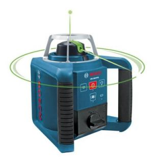 Bosch 1000 ft. Self Leveling Green Rotating Laser Level GRL300HVG