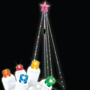 6 ft. 75 Light Multi Color LED Light Show Cone Tree 48 440 00