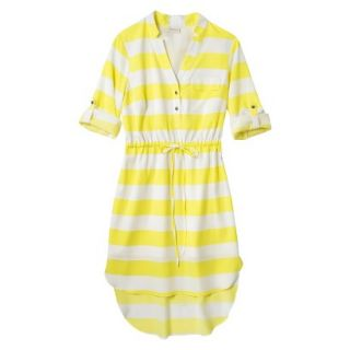 Merona Womens Drawstring Shirt Dress   Striped   XXL