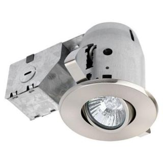 Globe Electric 3.25 in. Brushed Nickel Recessed Lighting Kit 90680