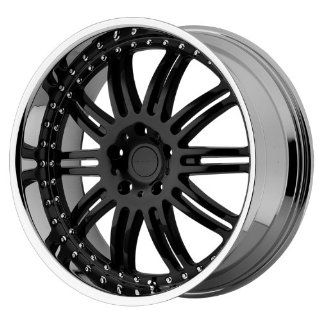 KMC KM127 22x9.5 Black Wheel / Rim 5x115 with a 18mm Offset and a 72.60 Hub Bore. Partnumber KM12722915518 Automotive