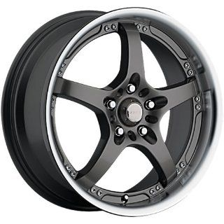 Akuza Intimidator 18 Black Wheel / Rim 4x100 & 4x4.25 with a 45mm Offset and a 73 Hub Bore. Partnumber 429875842+45GBLM Automotive