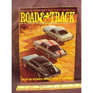 1965 65 April ROAD and TRACK Magazine, Volume 16 Number # 8 (Features Road Test On Glas 1300 GT, Barracuda S, & Honda S 600 + Alfa Romeo 158 and Giuseppe Farina) Road and Track Books