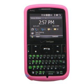 Silicone Skin HOT PINK Rubber Soft Cover Case for HTC Ozone XV6175 Verizon Cell Phones & Accessories